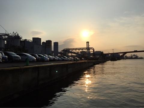 松村渡船からの風景